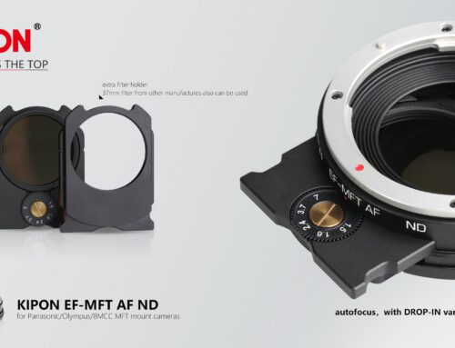KIPON start to deliver world first autofocus adapter for m4/3 system with drop-in variable ND filters