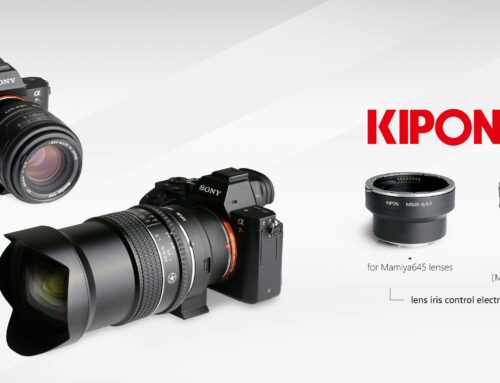 KIPON start to deliver two smart adapters for using electronical Mamiya645 mount lenses on SONY E mount cameras